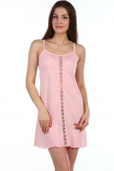 Розовая сорочка кружевом Натали
