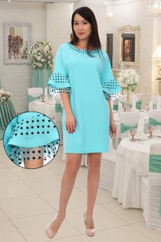 Нарядное ментоловое платье Натали